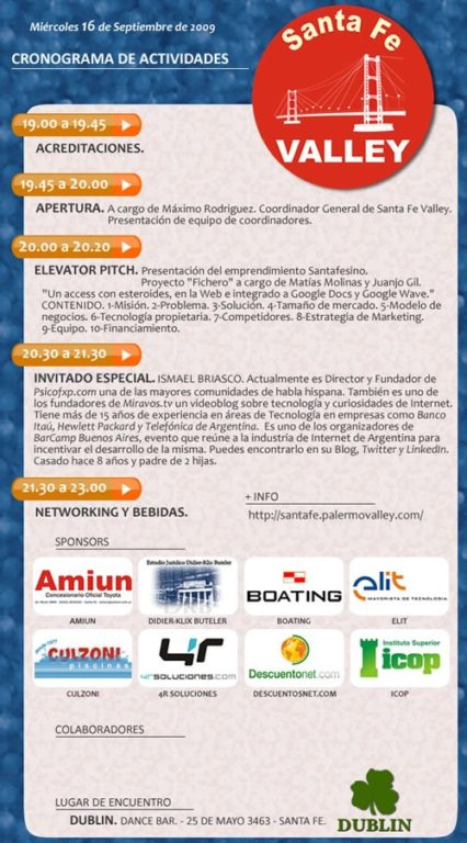 Santa Fe Valley, programa del evento